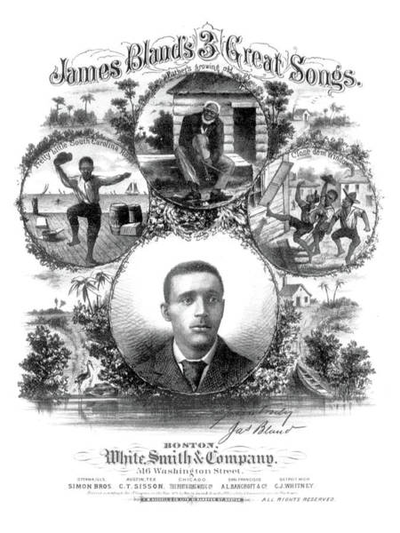 Wall Art - Photograph - James A. Bland, 3 Great Songs, 1879 by Science Source