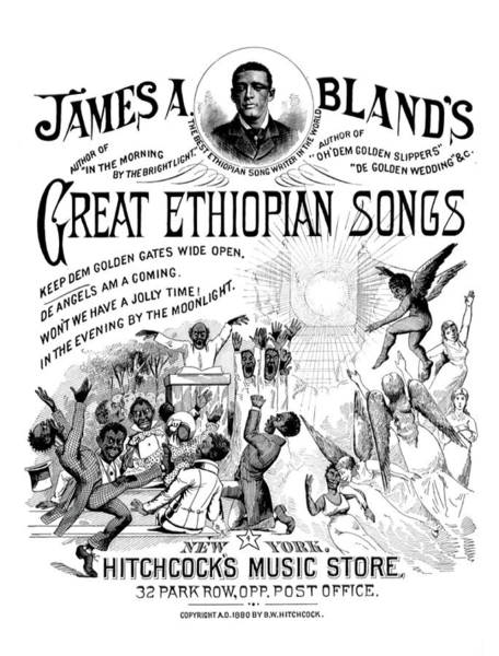 Wall Art - Photograph - James A. Bland, Great Ethiopian Songs by Science Source