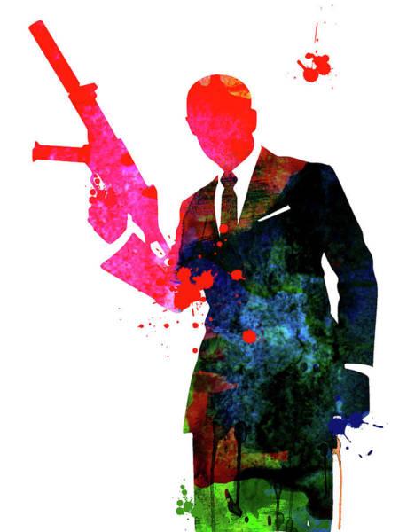 Los Angeles Mixed Media - James Bond 007 Watercolor  II by Naxart Studio