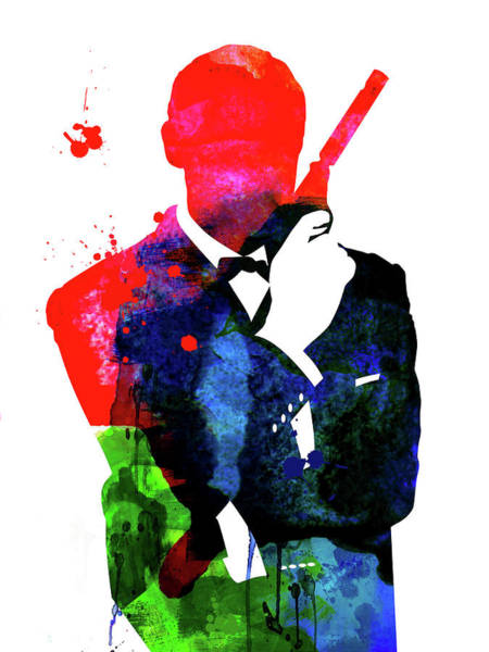 Los Angeles Mixed Media - James Bond 007 Watercolor V by Naxart Studio