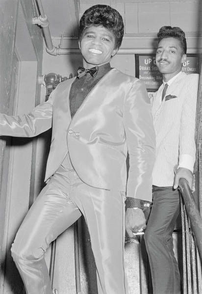James Brown Photograph - James Brown Backstage At The Apollo by Michael Ochs Archives