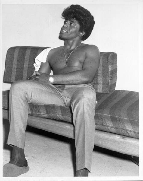 Apollo Theater Photograph - James Brown Backstage by Michael Ochs Archives