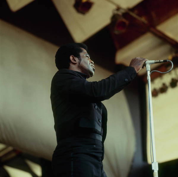 Singer Island Photograph - James Brown Performs At Newport by David Redfern