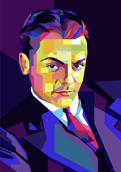 Wall Art - Digital Art - James Cagney Pop Art by Stars on Art