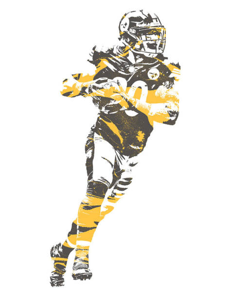 Wall Art - Mixed Media - James Connor Pittsburgh Steelers Pixel Art 2 by Joe Hamilton