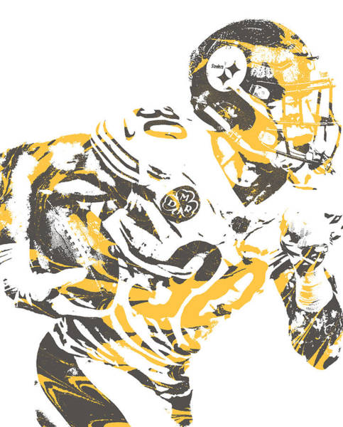 Wall Art - Mixed Media - James Connor Pittsburgh Steelers Pixel Art 3 by Joe Hamilton
