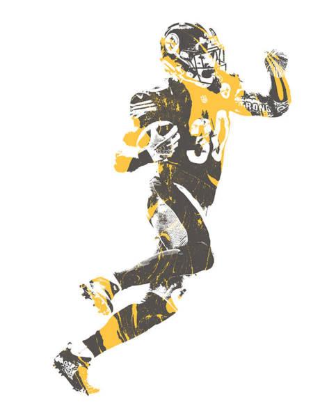 Wall Art - Mixed Media - James Connor Pittsburgh Steelers Pixel Art 4 by Joe Hamilton
