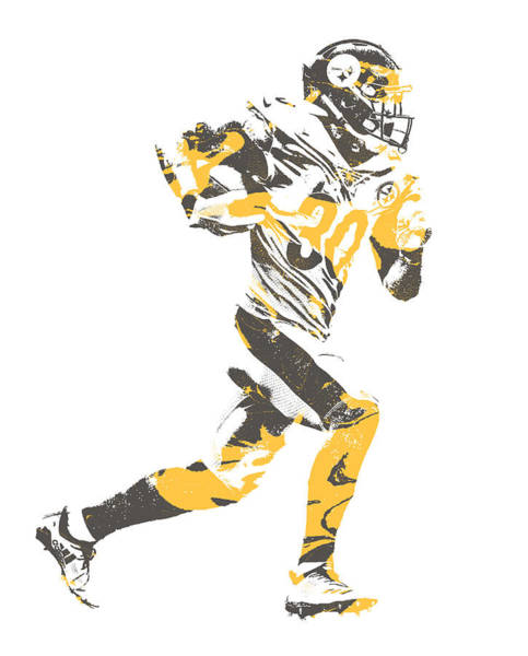 Wall Art - Mixed Media - James Connor Pittsburgh Steelers Pixel Art 5 by Joe HamiltonMES CONNOR PITTSB