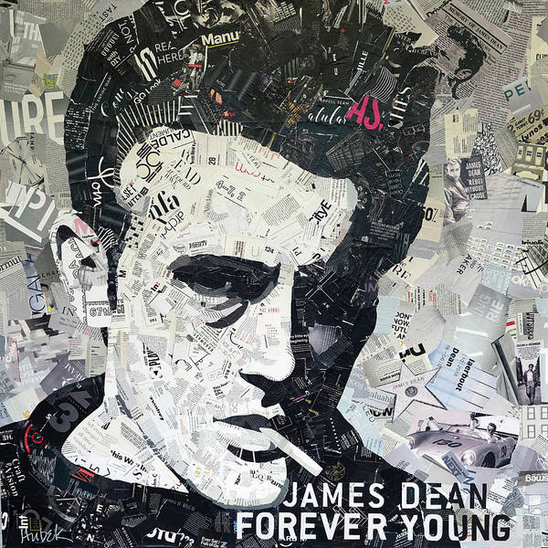 Wall Art - Mixed Media - James Dean Forever Young by James Hudek