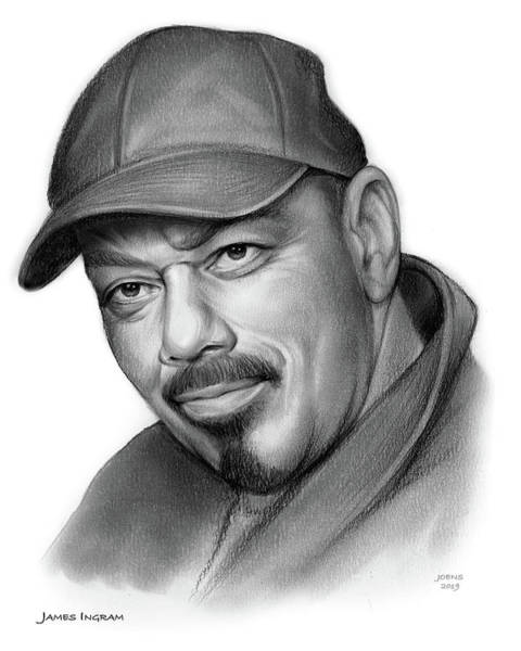 Wall Art - Drawing - James Ingram by Greg Joens