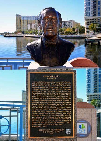 Wall Art - Photograph - James Mckay, Sr. Riverwalk Tampa  by David Lee Thompson