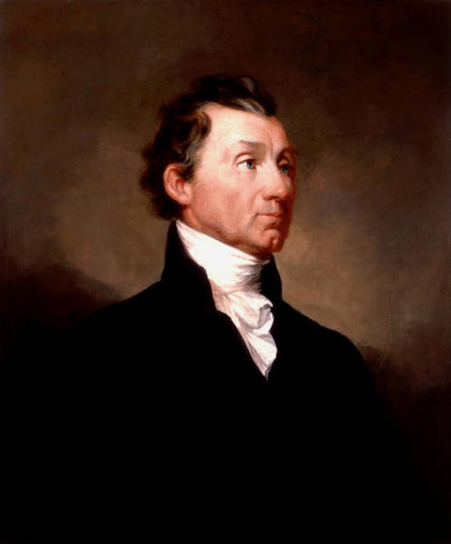Wall Art - Painting - James Monroe Portrait - By Samuel Morse - 1819 by War Is Hell Store