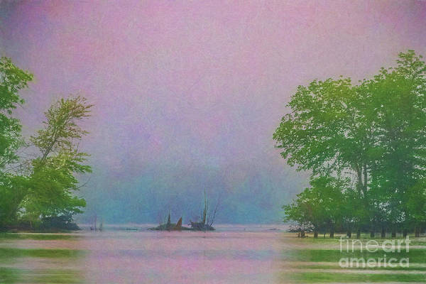 Wall Art - Digital Art - James River In The Fog 3108tti by Doug Berry