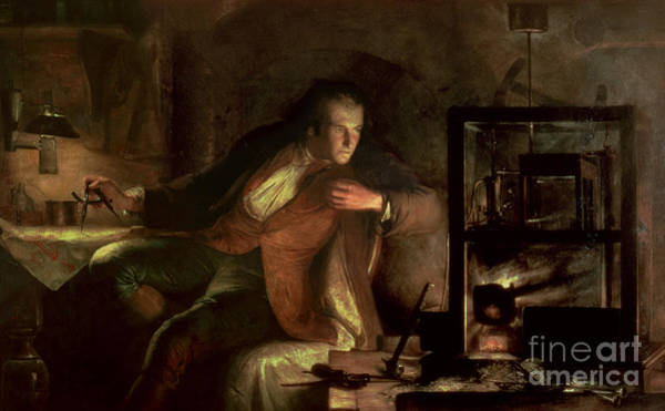 Wall Art - Painting - James Watt And The Newcomen Engine by James Eckford Lauder