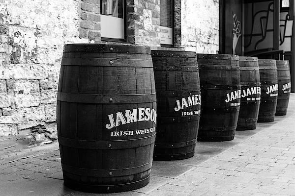 Irish Whiskey Photograph - Jameson Barrels by Georgia Fowler