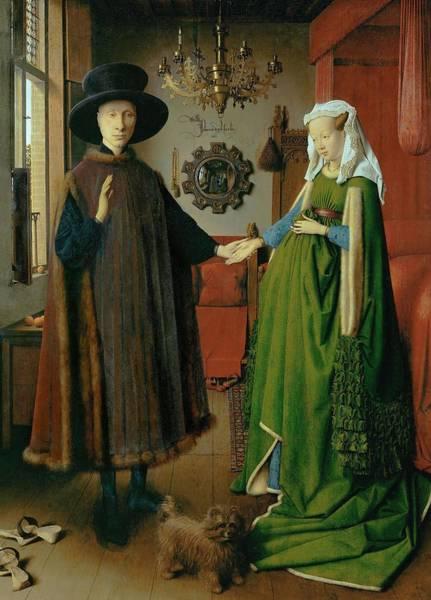 Arnolfini Painting - Jan Van Eyck / 'the Arnolfini Portrait', 1434, Oil On Panel, 82 X 60 Cm. Giovanni Arnolfini . by Jan van Eyck -1390-1441-