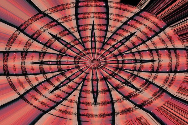 Wall Art - Digital Art - Janca Red Oval Abstract 9133ewc1b by Tom Janca