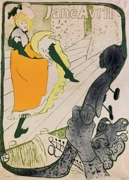 Wall Art - Painting - Jane April - Digital Remastered Edition by Henri de Toulouse-Lautrec