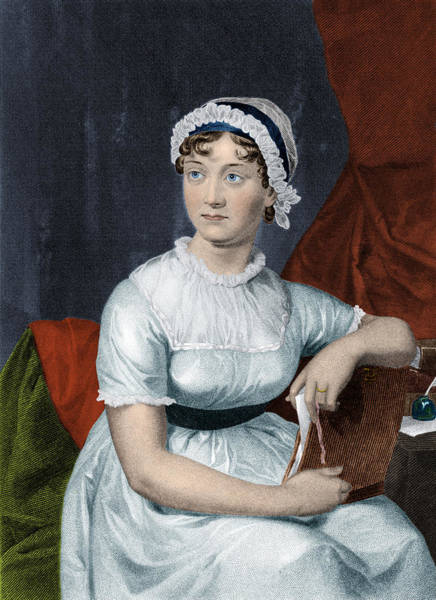 Photograph - Jane Austen, English Author by Science Source