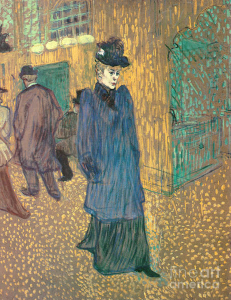 Wall Art - Painting - Jane Avril Leaving The Moulin Rouge, 1892 by Henri de Toulouse-Lautrec
