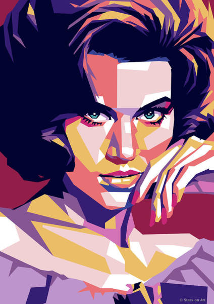 Digital Art - Jane Fonda by Stars on Art
