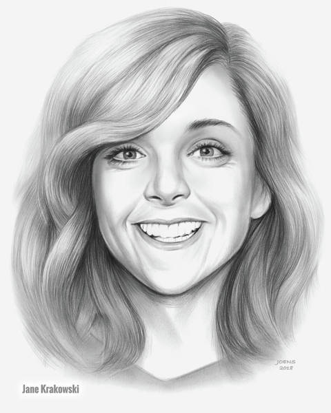 Actress Drawing - Jane Krakowski by Greg Joens