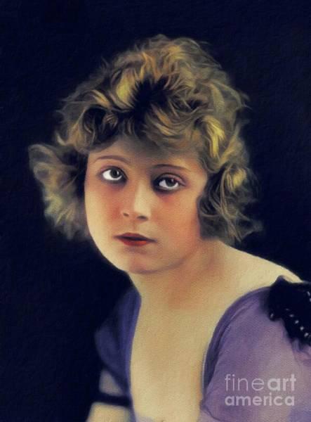 Wall Art - Painting - Jane Novak, Vintage Actress by John Springfield