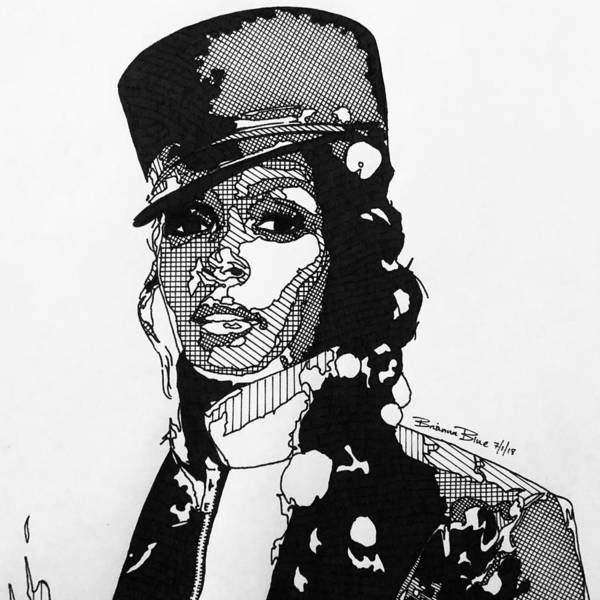 Wall Art - Drawing - Janelle Monae by Brianna Blue