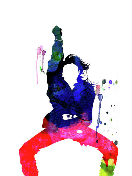 Rock Mixed Media - Janet Jackson Watercolor by Naxart Studio