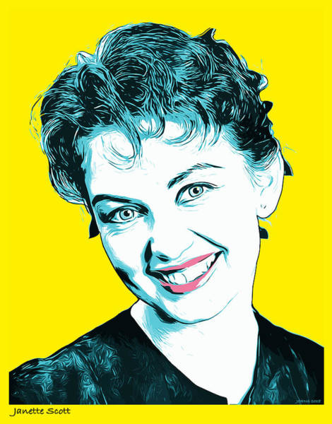 Wall Art - Digital Art - Janette Scott by Greg Joens