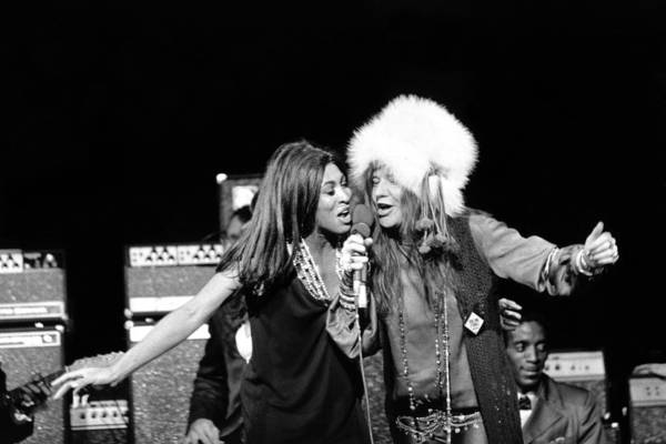 Photograph - Janis & Tina Performing by Michael Ochs Archives