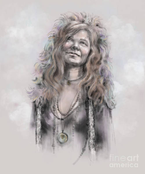 Mixed Media - Janis Joplin by Lora Serra