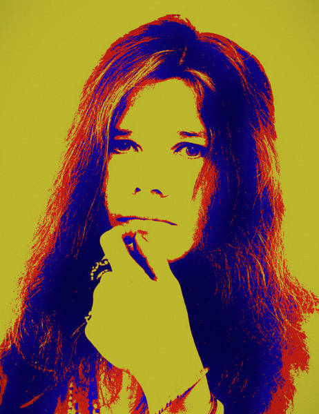 Painting - Janis Pop Art Portrait by Dan Sproul