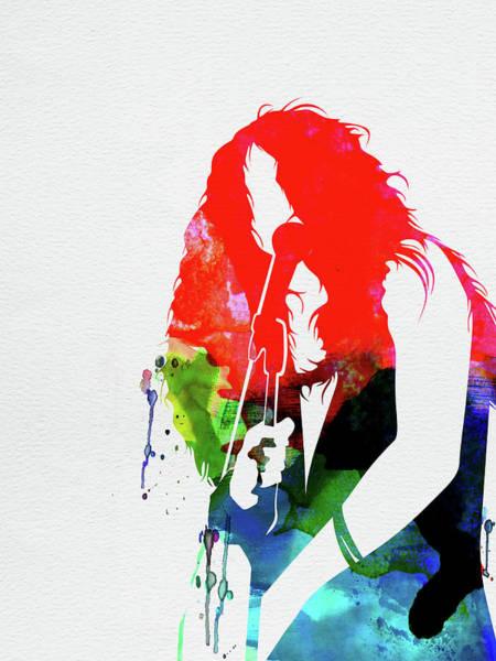 Jazz Mixed Media - Janis Watercolor by Naxart Studio