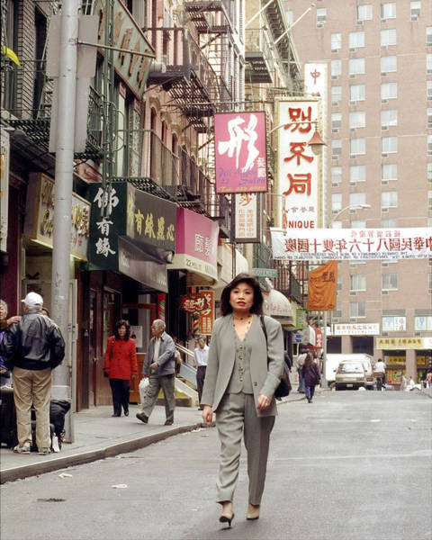 Wall Art - Photograph - Janny Lee On The Streets Of Manhattans by New York Daily News Archive