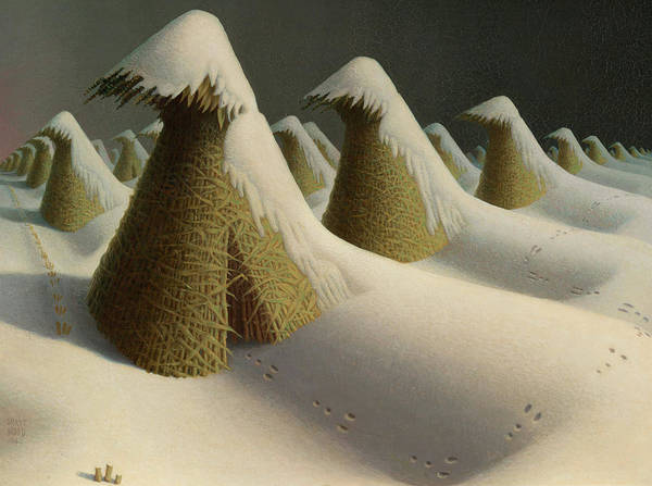Wall Art - Painting - January, 1941 by Grant Wood