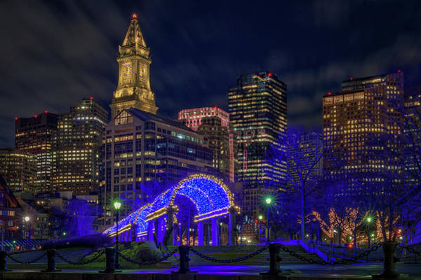 Photograph - January Evening At Christopher Columbus Park by Kristen Wilkinson