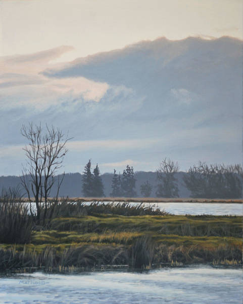 Painting - January Skies by Peter Mathios