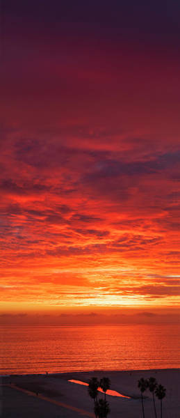 Photograph - January Sunset - Vertirama 2 by Gene Parks