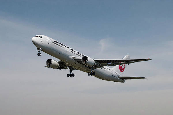 Wall Art - Mixed Media - Japan Airlines Boeing 767-346 by Smart Aviation