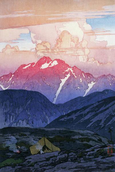 Wall Art - Painting - Japan Alps 12, Tsurugi Mountain Morning - Digital Remastered Edition by Yoshida Hiroshi