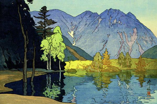 Wall Art - Painting - Japan Alps 12title, Hotaka Mountain - Digital Remastered Edition by Yoshida Hiroshi