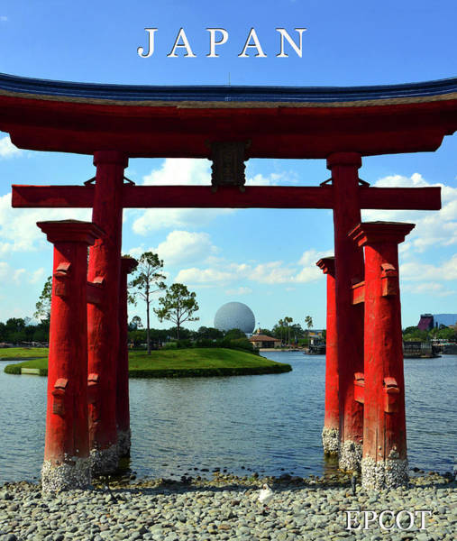 Epcot Center Wall Art - Photograph - Japan At Epcot by David Lee Thompson