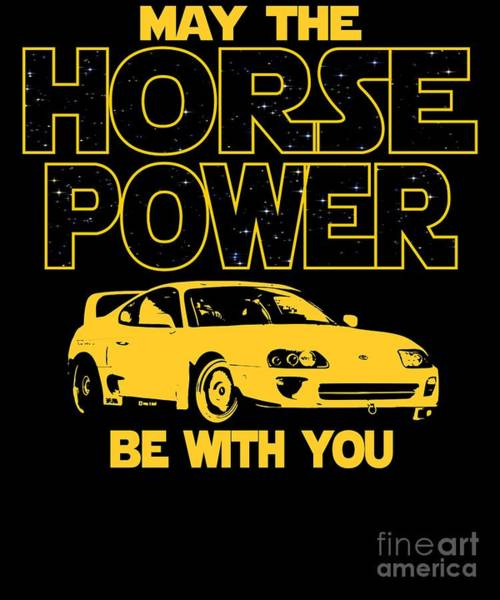 Awesome Show Digital Art - Japan Car Horse Power Be With You  by Dusan Vrdelja