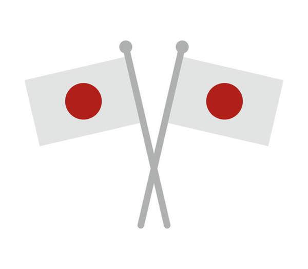 Aspect Digital Art - Japan Flag by Marco Livolsi