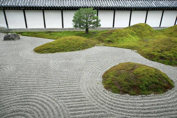 Wall Art - Photograph - Japan, Kyoto, Hojoteien Zen Garden by Kaz Chiba