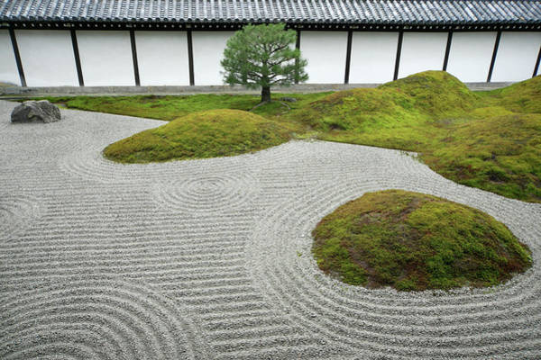 High Society Photograph - Japan, Kyoto, Hojoteien Zen Garden by Kaz Chiba