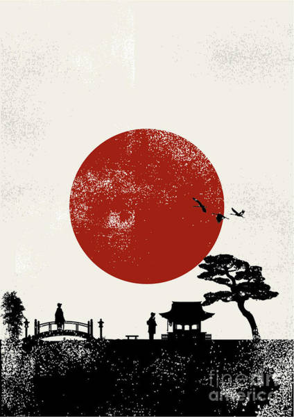 Wall Art - Digital Art - Japan Scenery Poster, Vector by Seita