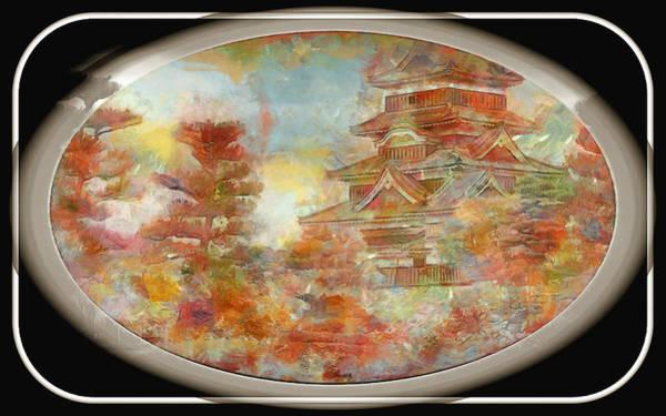Digital Art - Japan Temple by Mario Carini