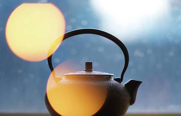 Teapot Photograph - Japanese Cast Iron Teapot With Bokeh by By Joey Chiu